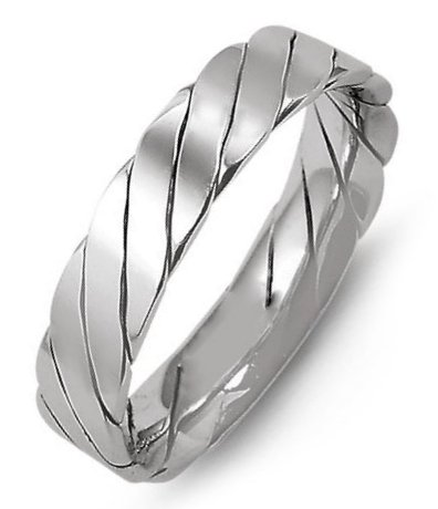 Item # M421520PP - Platinum, 5.0mm wide, comfort fit, hand made wedding band.