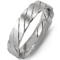 Item # M421520WE - 18K White Gold Hand Made Wedding Band
