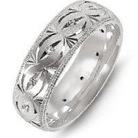 Item # M8277PP - Platinum Carved Diamond Wedding Band
