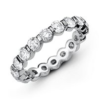 Item # MS20037WE - 18K Diamond Eternity Band