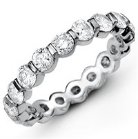 Item # MS20039W - Diamond Eternity Band