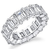 Item # MS20187PP - Diamond Eternity Band 7.0ct Diamonds Platinum