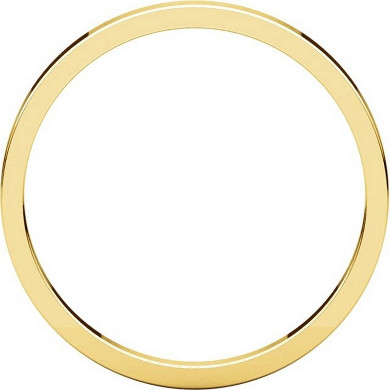 Item # N012502 View 2 - 14K Yellow Gold 2mm  Flat Wedding Ring