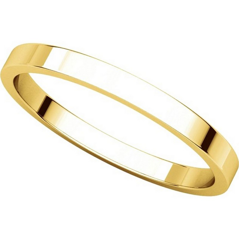 Item # N012502 View 4 - 14K Yellow Gold 2mm  Flat Wedding Ring