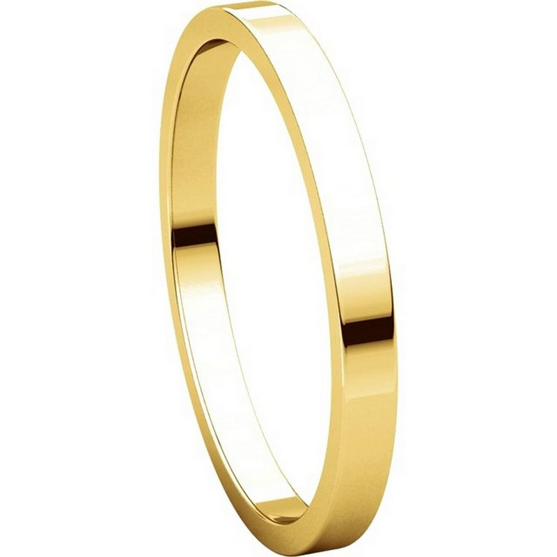 Item # N012502 View 5 - 14K Yellow Gold 2mm  Flat Wedding Ring