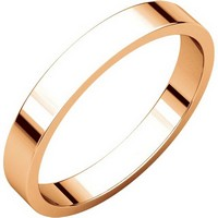 Item # N012503R - 14K Rose Gold 3mm Flat Plain Wedding Ring