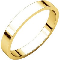 Item # N012503 - 14K Yellow Gold 3mm Flat Plain Wedding Ring