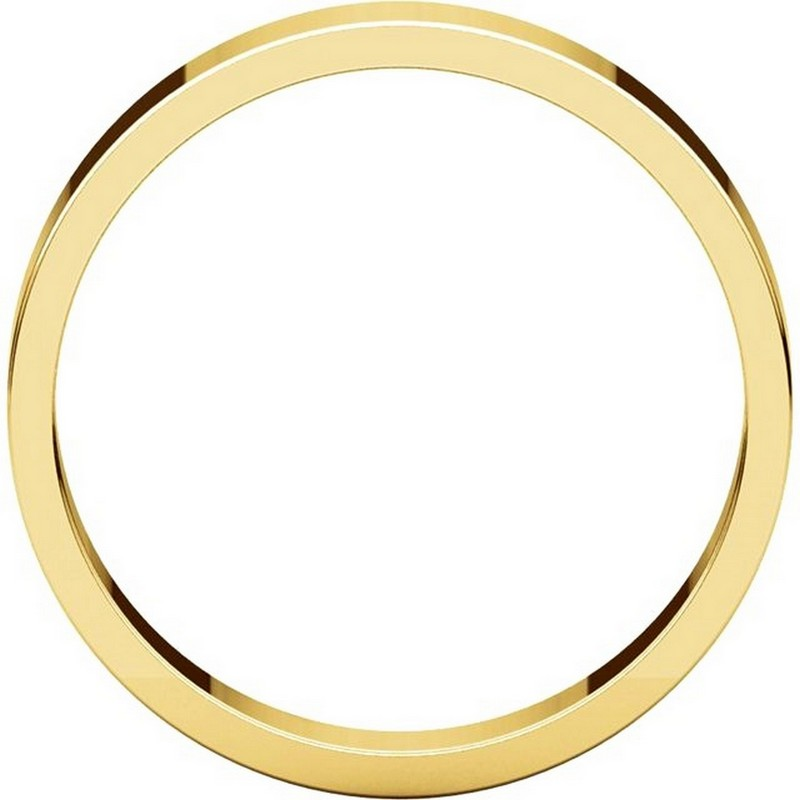 Item # N012504 View 2 - 14K Yellow Gold 4mm Flat Men's Plain Wedding Band