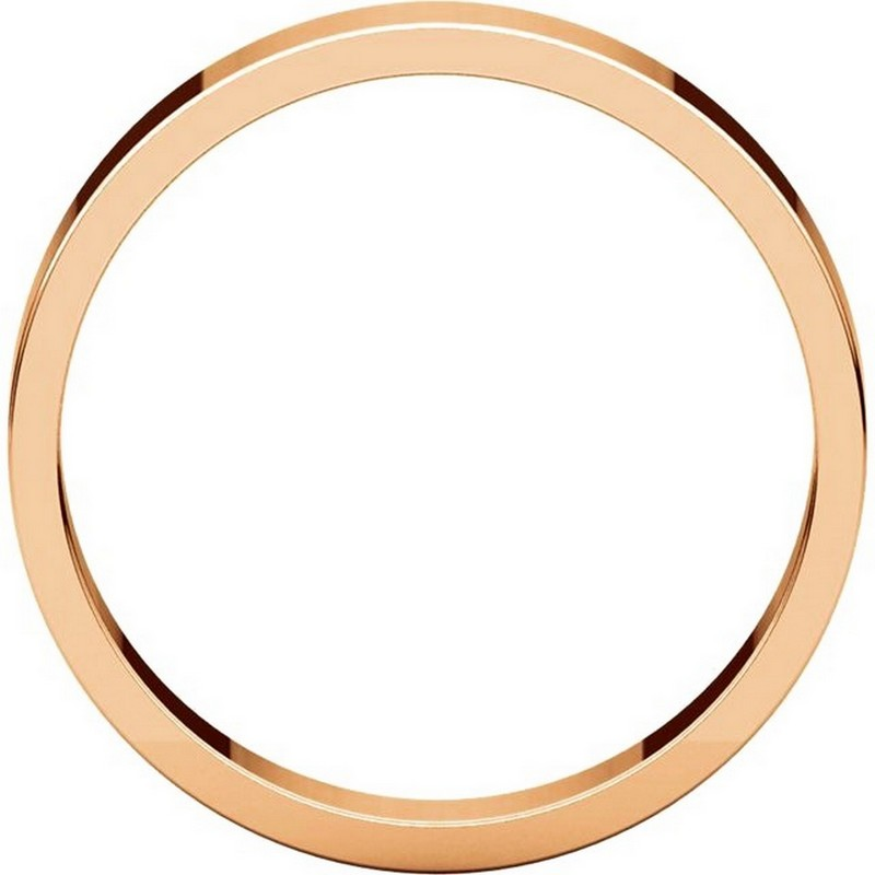 Item # N012504RE View 2 - 18K Rose Gold Plain 4mm Wide Flat Wedding Band