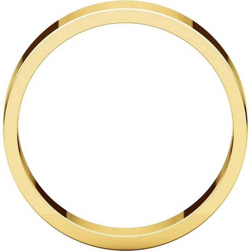 Item # N012505E View 2 - 18K Yellow Gold 5mm Wide Flat Plain Wedding Band