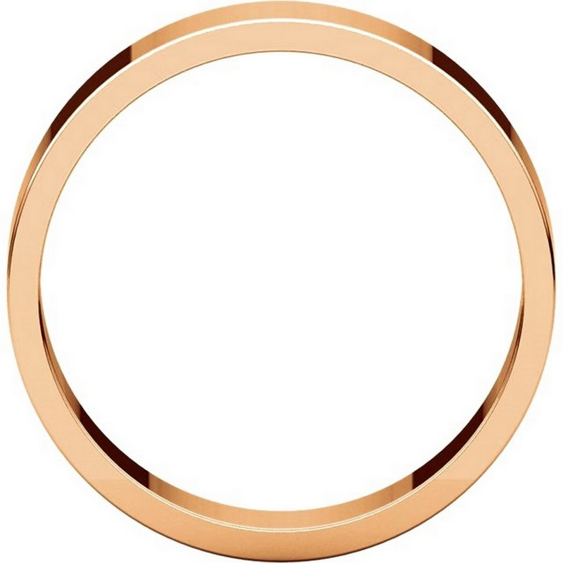 Item # N012505RE View 2 - 18K Rose Gold 5mm Wide Flat Plain Wedding Band