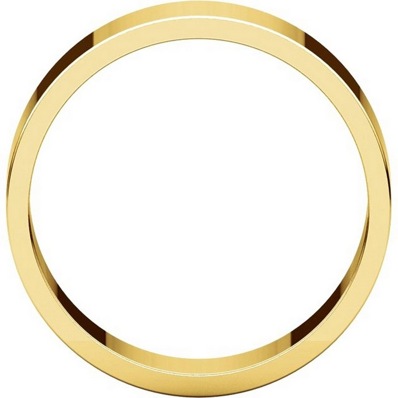 Item # N012506 View 2 - 14K Yellow Gold 6mm Wide Flat  Plain Wedding Band
