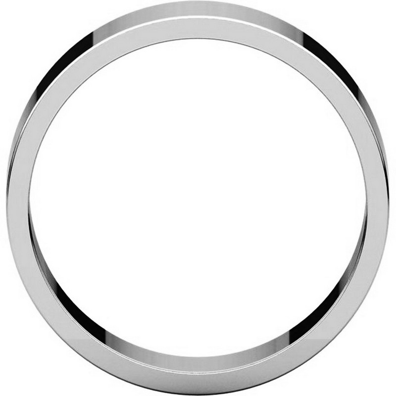 Item # N012506PP View 2 - Platinum 6mm Wide Flat Plain Wedding Band