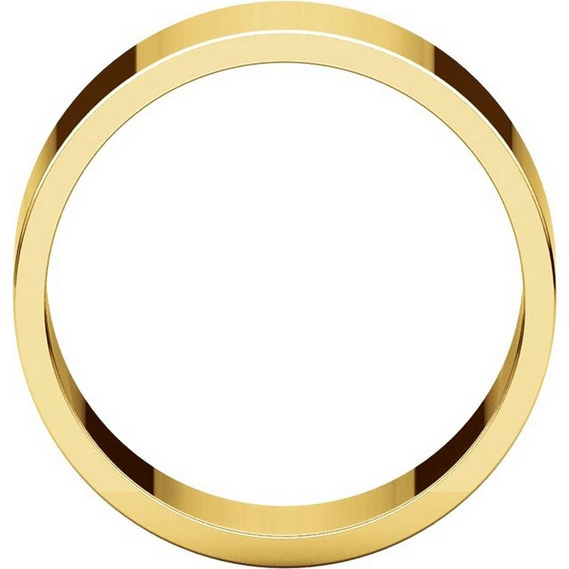 Item # N012508 View 2 - 14K Yellow Gold 8mm Wide Flat Plain Wedding Band