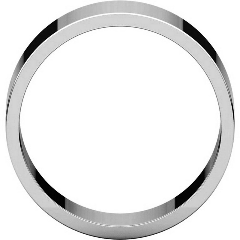 Item # N012508PP View 2 - Plain Wedding Band Platinum 8mm Wide Flat