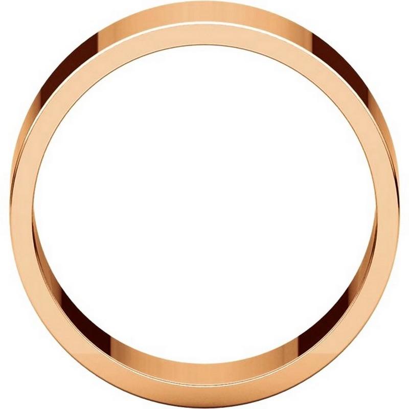 Item # N012508RE View 2 - 18K Rose Gold 8mm Wide Flat Plain Wedding Band