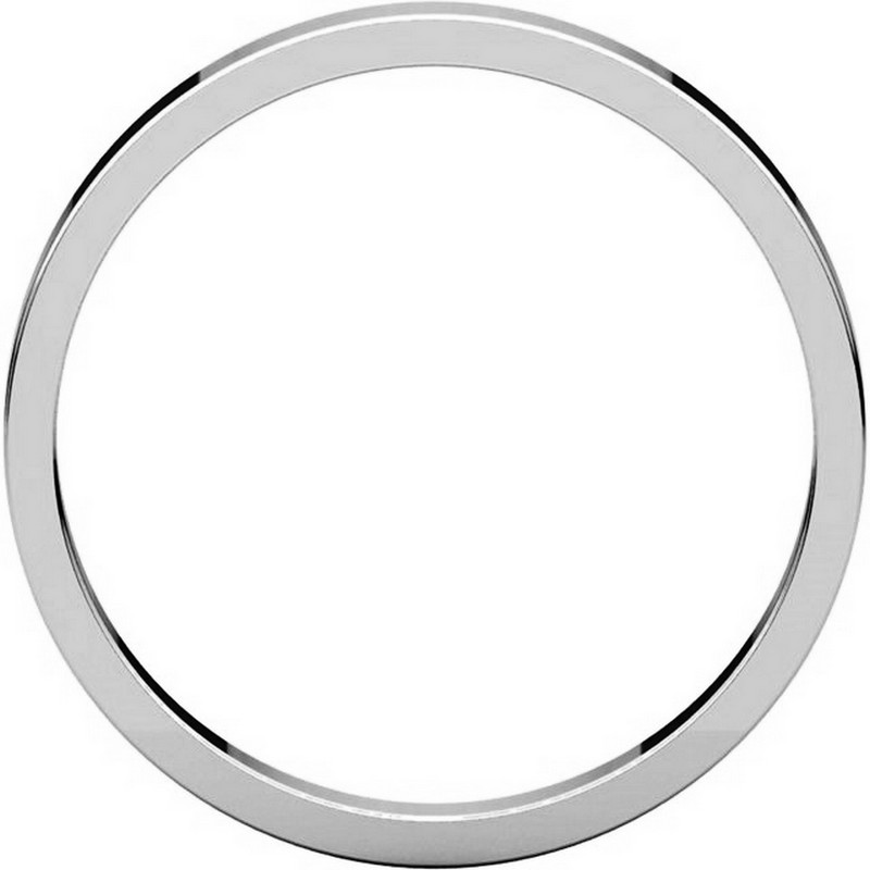 Item # N012525PP View 2 - Platinum 2.5mm Wide Flat Wedding Ring