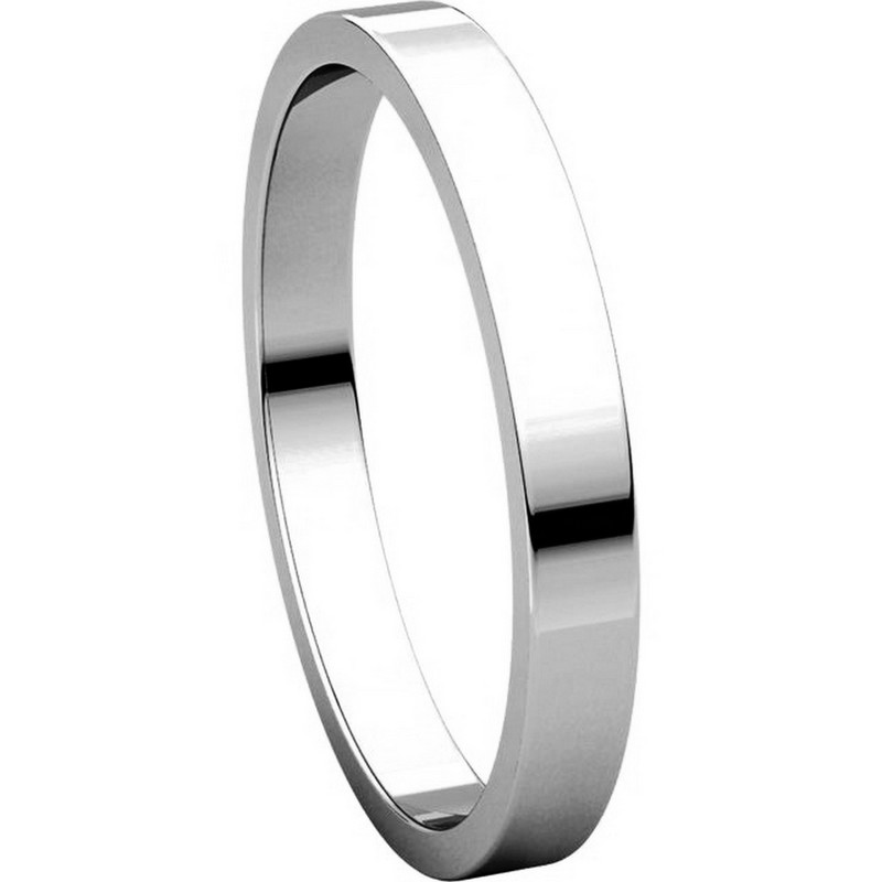 Item # N012525PP View 5 - Platinum 2.5mm Wide Flat Wedding Ring