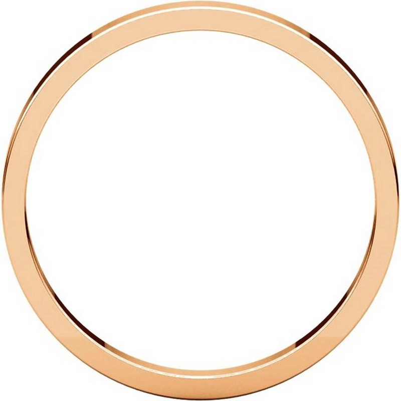 Item # N012525R View 2 - 14K Rose Gold 2.5mm Wide Flat Plain Wedding Band
