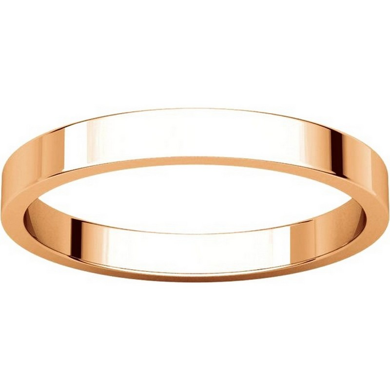 Item # N012525R View 3 - 14K Rose Gold 2.5mm Wide Flat Plain Wedding Band