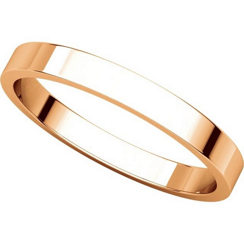 Item # N012525R View 4 - 14K Rose Gold 2.5mm Wide Flat Plain Wedding Band
