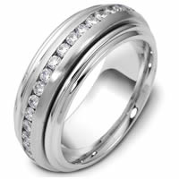 Item # P112161PD - Diamond Palladium Eternity Wedding Band