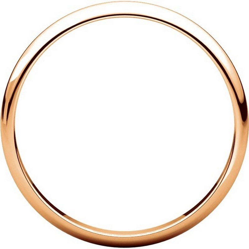 Item # P403825RE View 2 - 14K Rose Gold 2.5mm Wide Plain Wedding Ring