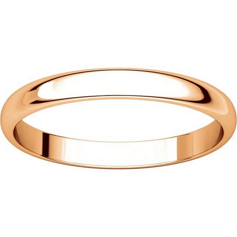Item # P403825RE View 3 - 14K Rose Gold 2.5mm Wide Plain Wedding Ring