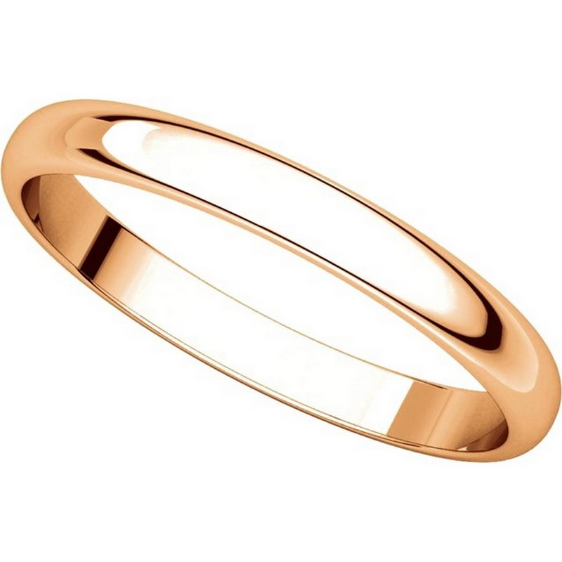 Item # P403825RE View 4 - 14K Rose Gold 2.5mm Wide Plain Wedding Ring