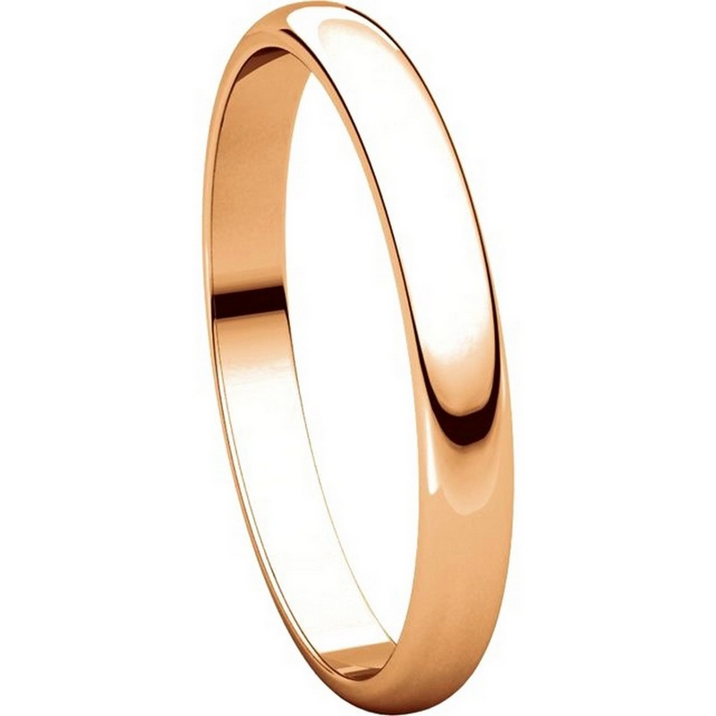 Item # P403825RE View 5 - 14K Rose Gold 2.5mm Wide Plain Wedding Ring