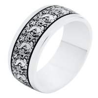 Item # R11011PD - Palladium Verona Lace Wedding Ring Romeo