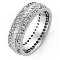 Item # R43388W - 14K Handcrafted Diamond Wedding Band