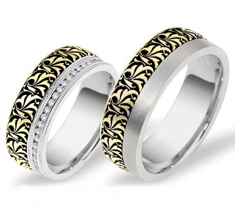 Introducing a New Romeo-Juliet Wedding Bands Line of unique designs has launched on WeddingBands.com