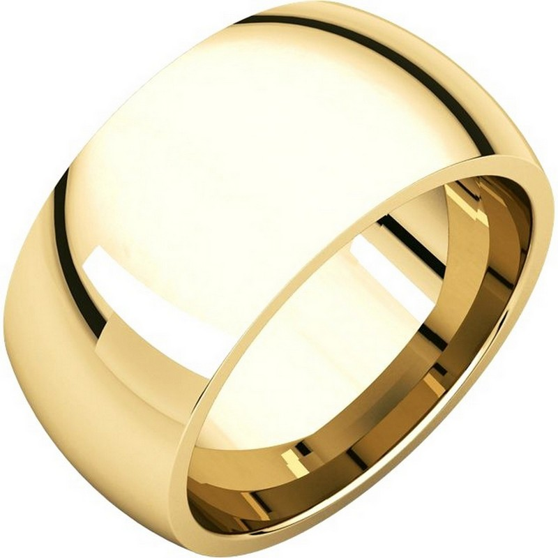 Item # S116872 - 14K gold heavy comfort fit plain 10.0mm wide wedding band. Different finishes are available.