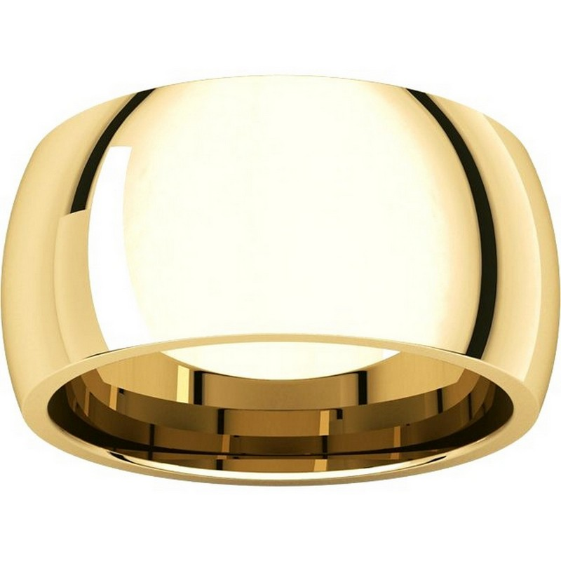 Item # S116872E View 3 - 18K Heavy Comfort Fit Plain Wedding Band