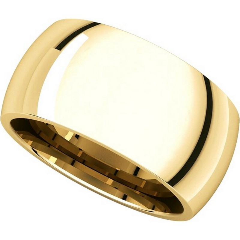 Item # S116872E View 4 - 18K Heavy Comfort Fit Plain Wedding Band