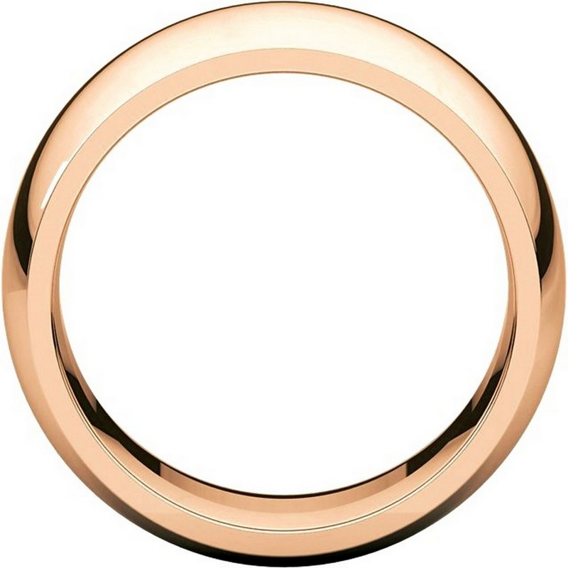 Item # S116872R View 2 - 14K Rose Heavy Comfort Fit Wedding Band