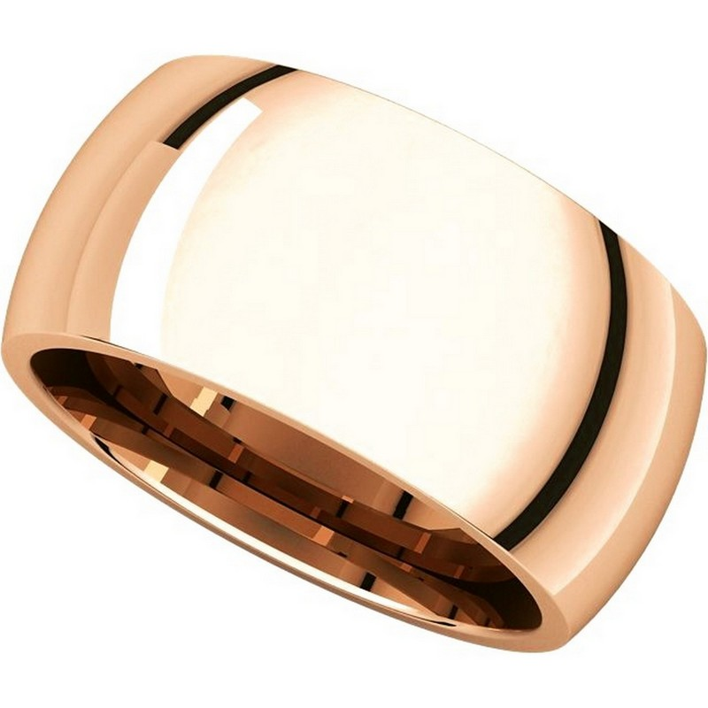 Item # S116872R View 4 - 14K Rose Heavy Comfort Fit Wedding Band
