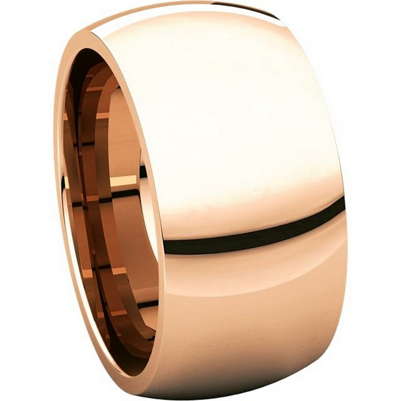 Item # S116872R View 5 - 14K Rose Heavy Comfort Fit Wedding Band