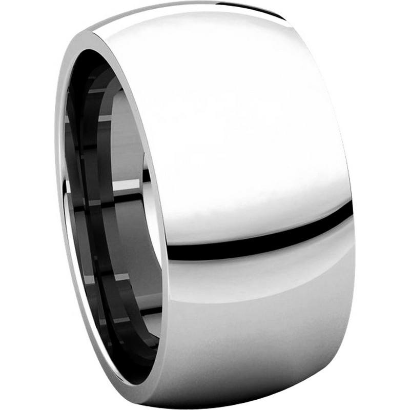 Item # S116872W View 5 - 14K White Gold Heavy 10mm Wide Comfort Fit Wedding Band.