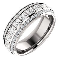Item # S127667PP - Princess Platinum Diamond Eternity Ring