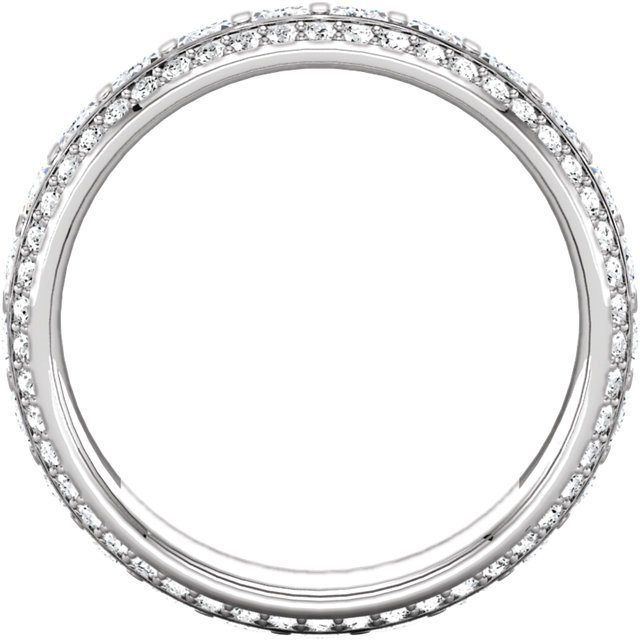 Item # S127667PD View 2 - Palladium Princess Eternity Ring