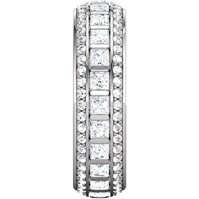 Item # S127667PD View 3 - Palladium Princess Eternity Ring