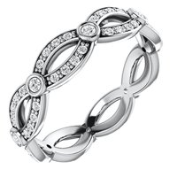 Item # S127684WE - 18K Infinity Diamond Eternity Ring