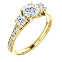 Item # S128553 - 14K Diamond Engagement Ring