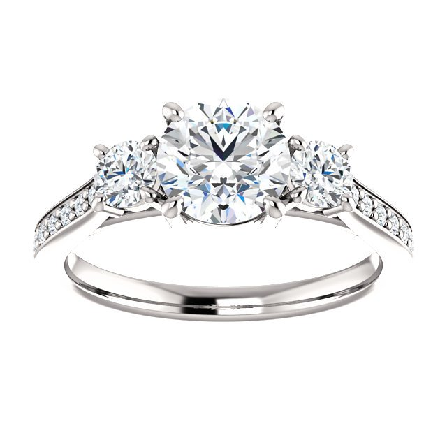 Item # S128553PP View 3 - Engagement Ring Platinum
