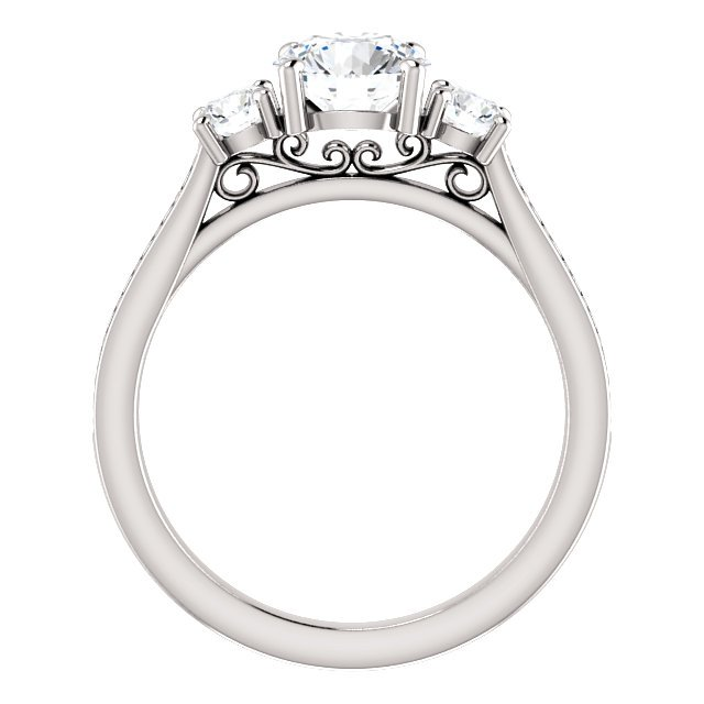Item # S128553PP View 4 - Engagement Ring Platinum