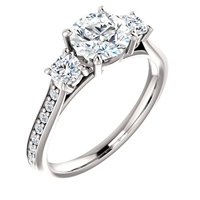Item # S128553W - Engagement Ring 14K