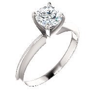 Item # S146079W - Solitaire Diamond Ring 1.0CT.
