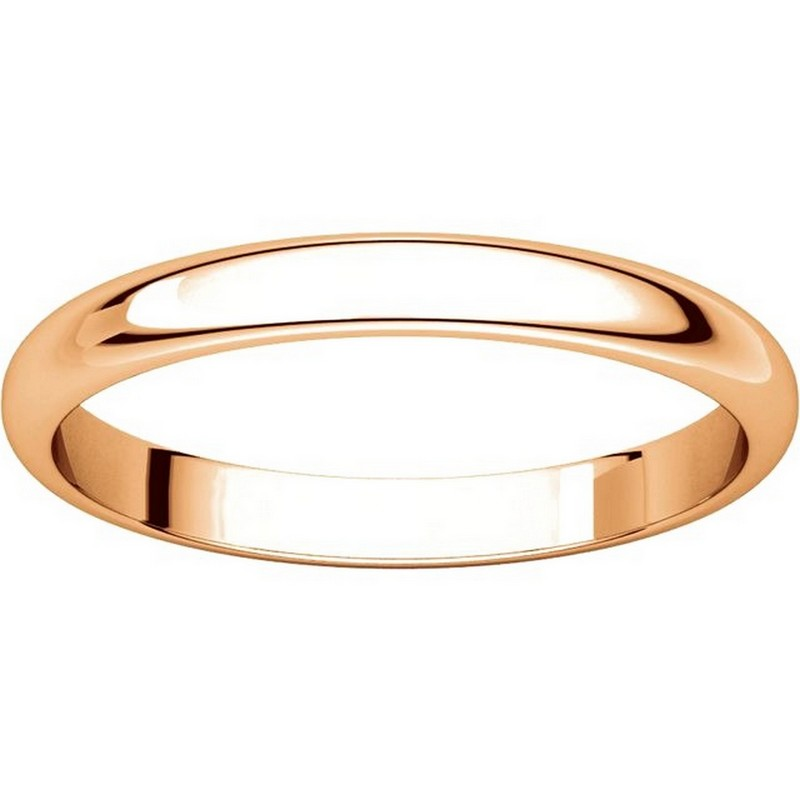 Item # S154002R View 3 - 14K Rose Plain Wedding Band 2.5mm Wide